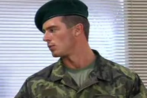Military nude Files - Foreign Hung private Marine Pavel is undressed naked by USA army captain