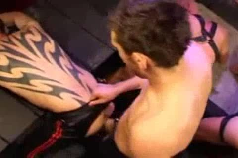 Leather ass pounding And Fisting