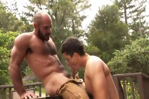 shaggy Muscle Bald Bear plows Jay Roberts