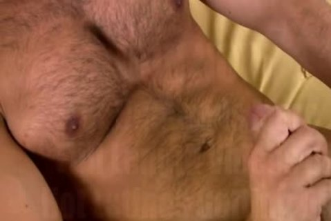 giant Burly Chest daybed Masturbation!