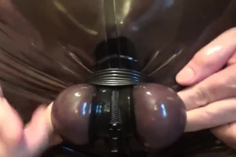 SPLIT AND HARD STRETCH OF MY EGGS. RUBBERED AND fastened.