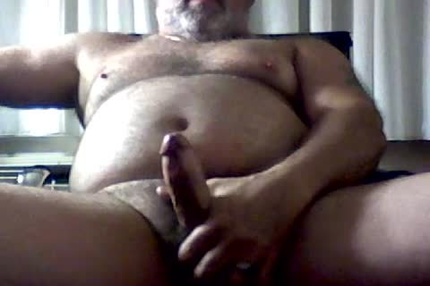 stroking In Hotel Room With Poppers And A fake penis.