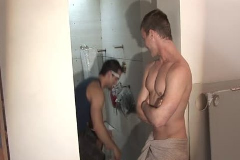 nasty homosexual Worker Getting poked And ejaculated