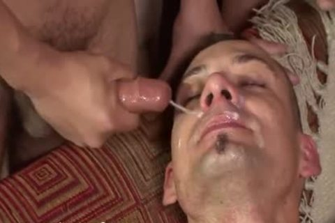young Bukkake slut acquires His butthole Filled With man meat