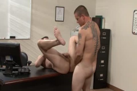 Tattooed homosexuals plowing In The Office