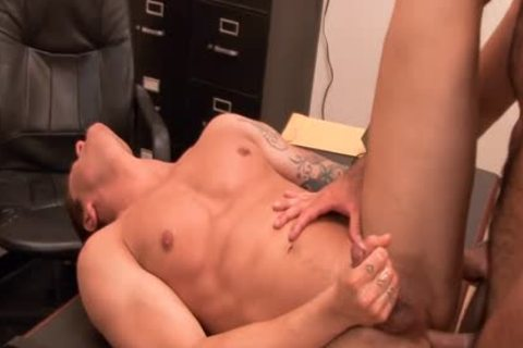 lustful homosexual gets ass drilled At Interview