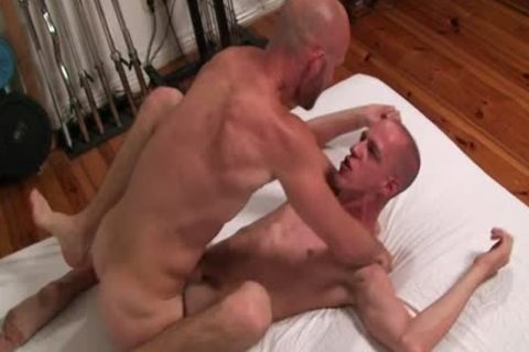 Two homosexual Bald males have a joy Sodomy jointly