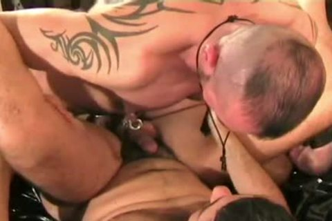Italian twink Bottom nailed By German Muscle Hunks In Leather And A massive Load To gulp