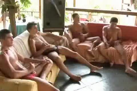 Brazilian bunch gangbang