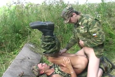 A gay Soldier Is plowed By His Boss