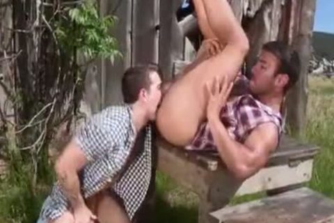 tasty Tattooed Hunk bang In The Farm - large