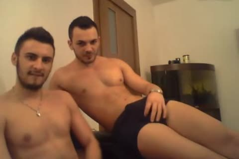 two gracious Romanian boys With large penises cum