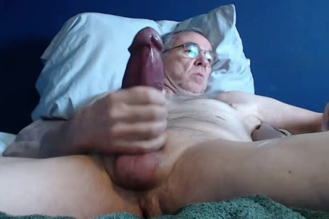 large penis older man long jack off On web camera (no sperm)