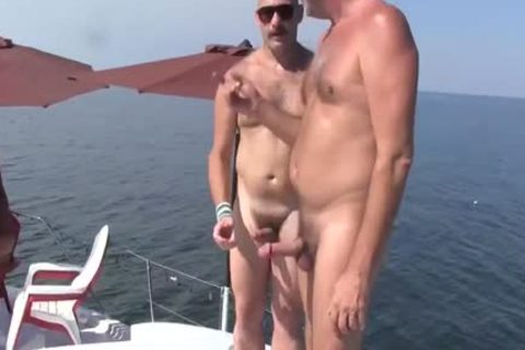 daddy chap Has A raunchy Experience With A Younger chap On A Boat