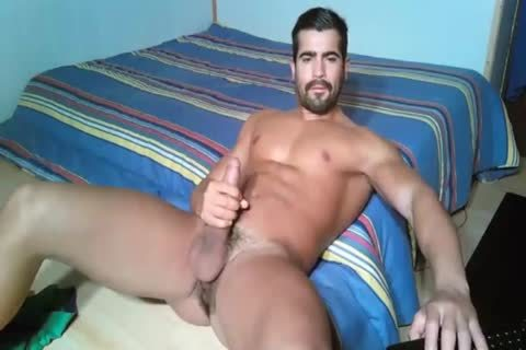 fascinating Portuguese With Large penis stroking On Web Camera