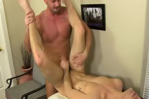 excited Boss Mitch Vaughn bonks Dustin Fitch In His dark hole