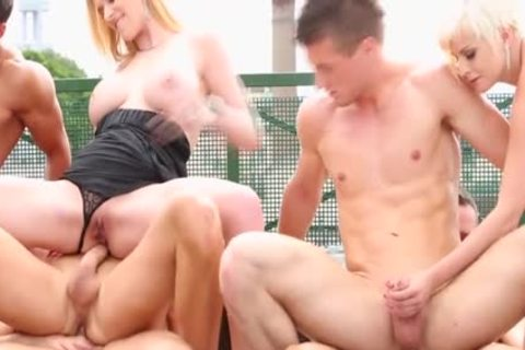 Steamy bisexual orgy Outdoor