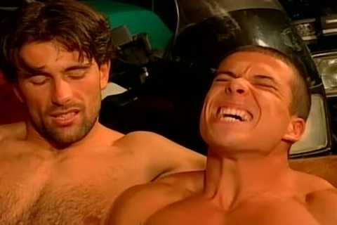 Muscled Biker males rough And raw plow Feast homo fuckfest