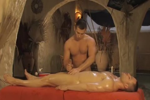A Combo Therapy Of Body And penis Massage