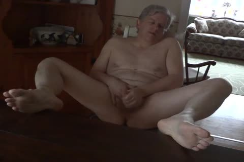 Daddy Masturbating naked In The Kitchen