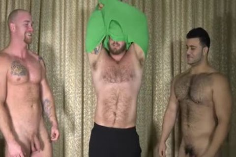 Muscle homosexual threesome And ejaculation