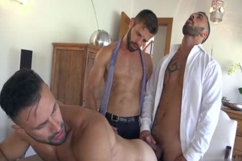 Muscle homosexual trio And penis juice flow