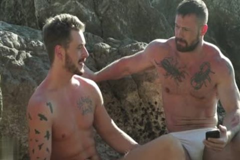 Muscle gay Outdoor And cream flow