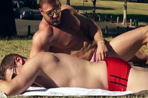 Muscle dad nails His Lad