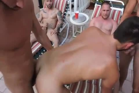 Owen's Poolside gangbang Ft. Trey Turner, Hans