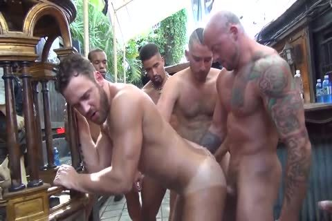 MusclePup Logan Moore receives gang gangbanged & Barebacked pound