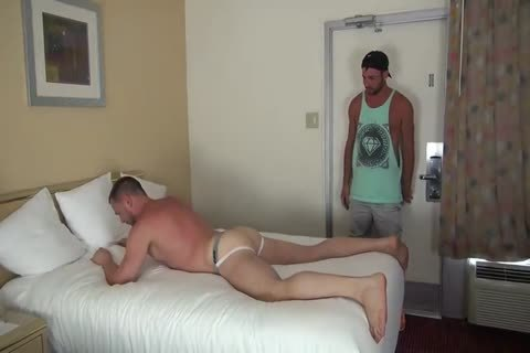 Muscle Bottom receives Team-hammered In Hotel Room