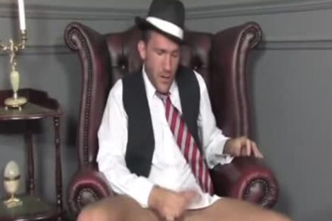 Suited twink Cums On His Socks