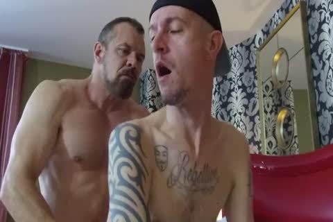 Robert Rexton receive's pounded By Muscle Daddy's Max Sargent & Chance Caldwell