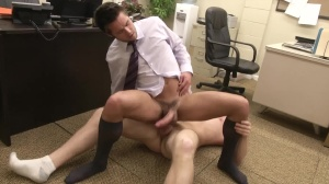 The Office slut three - Connor Maguire with Mike De Marko ass Nail