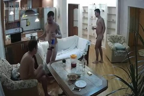 nice-looking Voyeur gay threesome With plenty of oral