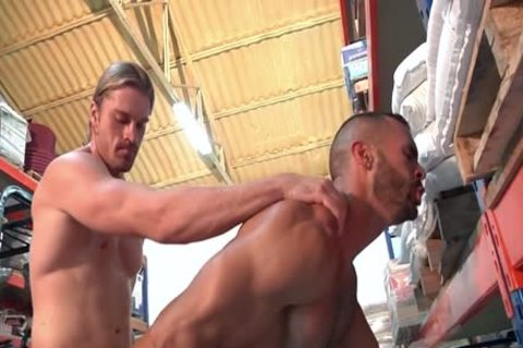 Two slutty Hunks Take Turns fucking Each Other.