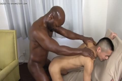 dark Daddy Chokes A lad With His penis