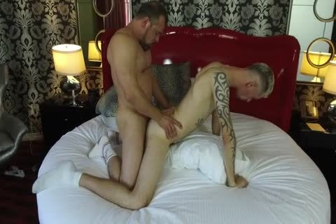 Robert Rexton acquires poked By Muscle Daddies Max Sargent & Chance Caldwell