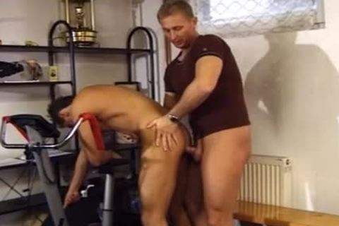Two Buff men have a pleasure A dirty pound At The Gym