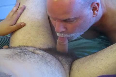bisexual Bear Cub's First oral-sex To Completion.