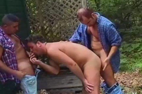 concupiscent Hunk Is Spit-roasted By Two gracious guys