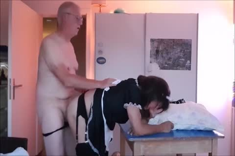 Maid Sissy Cleans abode Sucks 10-Pounder gets banged