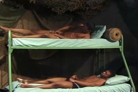 knob Loving ebony males fuck In A Bunk daybed