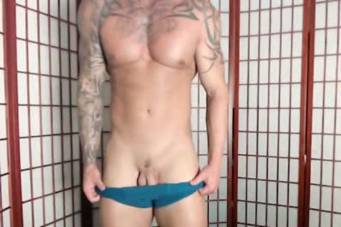 Jason Stromm - Flirt4Free - Tatted Muscle fellow Wanks His wild 10-Pounder