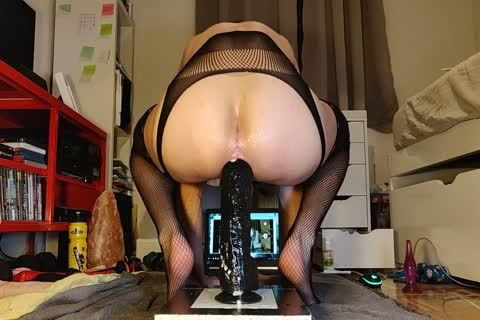 Mister Cate bonks His wazoo With A enormous dildo In yummy stockings