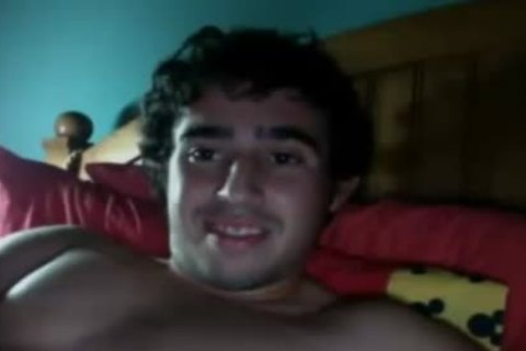 concupiscent young man shoots A humongous cum Load After Masturbation