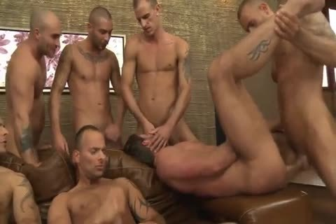 Toby Dutch acquires fucked In A Seven-dude bareback bunch gangbang