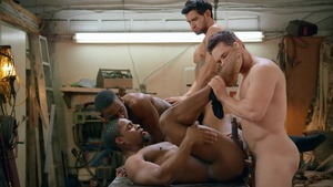 Tom Of Finland: Service Station: bare - Ricky Roman and River Wilson American Hook up