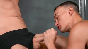 SeanCody - Tattooed Jayce beside Jax blowjob cum
