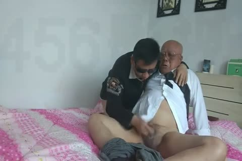 young Chinese Sucks & fucks His old man ally